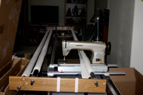 Bev's first Long arm quilting machine