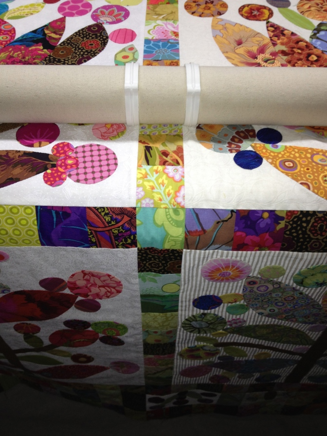 Floating your quilt top. It's all about control!